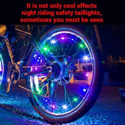 Svetleči obroč za kolo