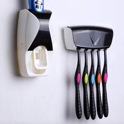 Dozirnik zobne paste in nosilec za ščetke