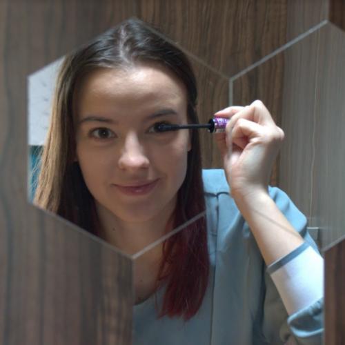 Šestiúhelníkové zrcadlové samolepky na zeď (6 kusů) photo review