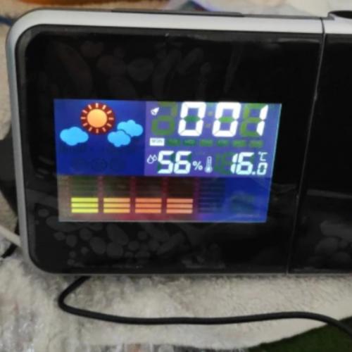 Projekční LCD hodiny s meteorologickou stanicí photo review